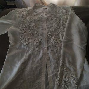 Beautiful off-white Sundance blouse
